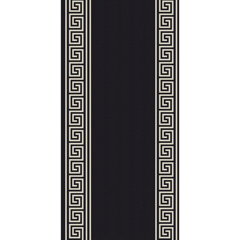 килим Cottage черно-вълна меандър