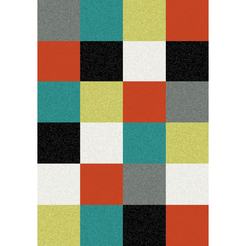 килим Funk сиво квадрати