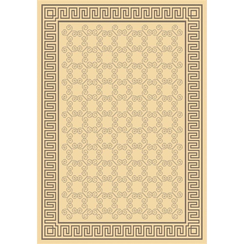 килим Cottage натурално-кафяво меандър
