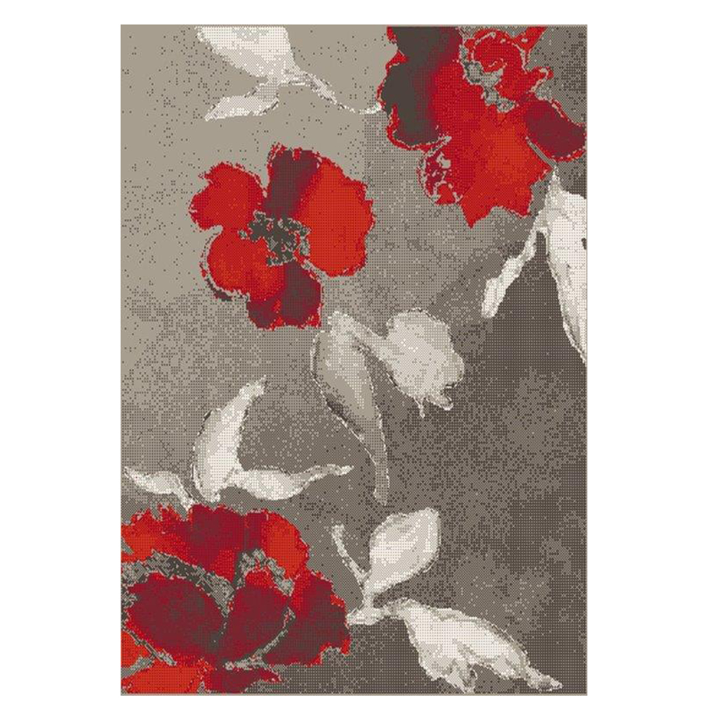 килим Casino оранж цвете кафяво 135х190