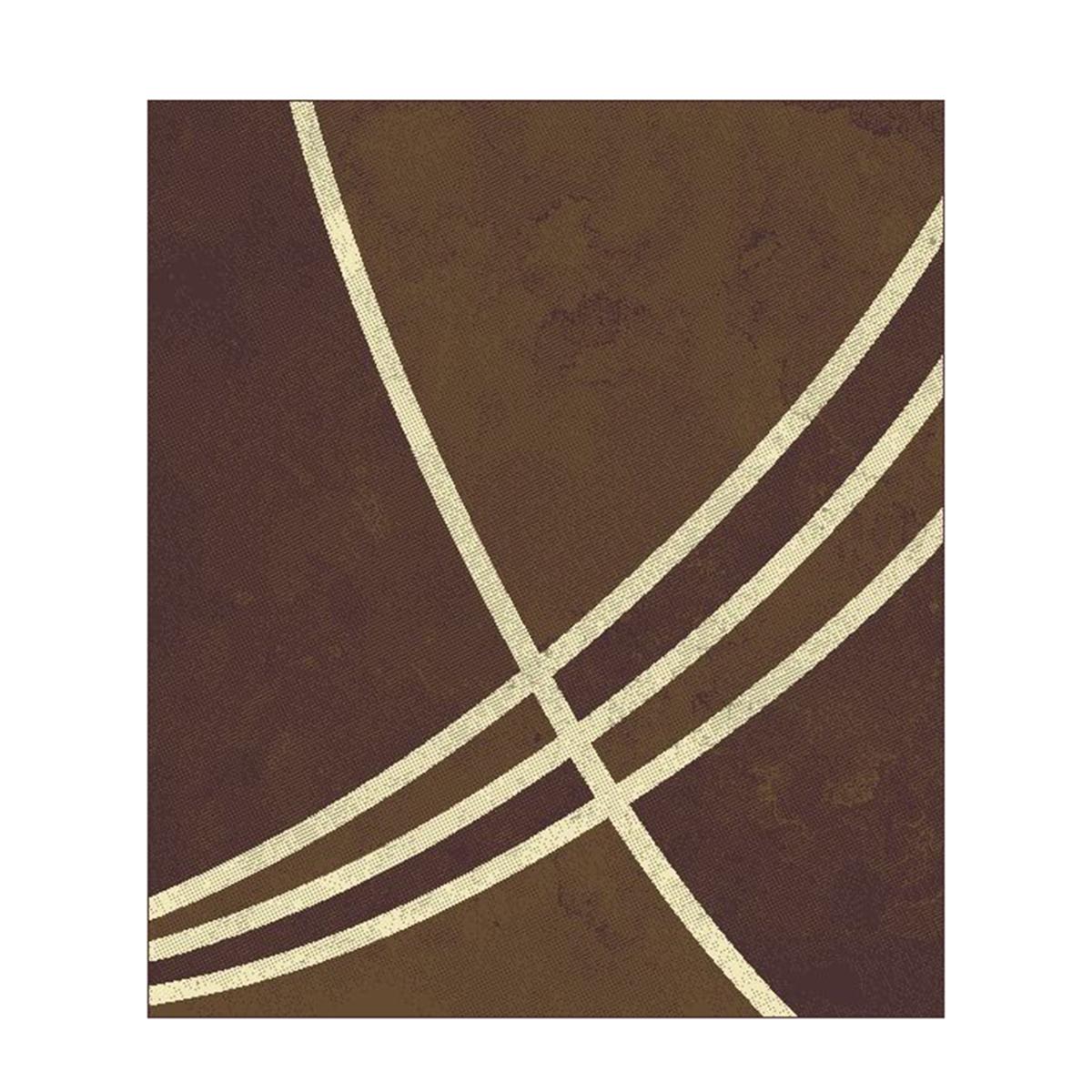 килим Lanu линии кафяв