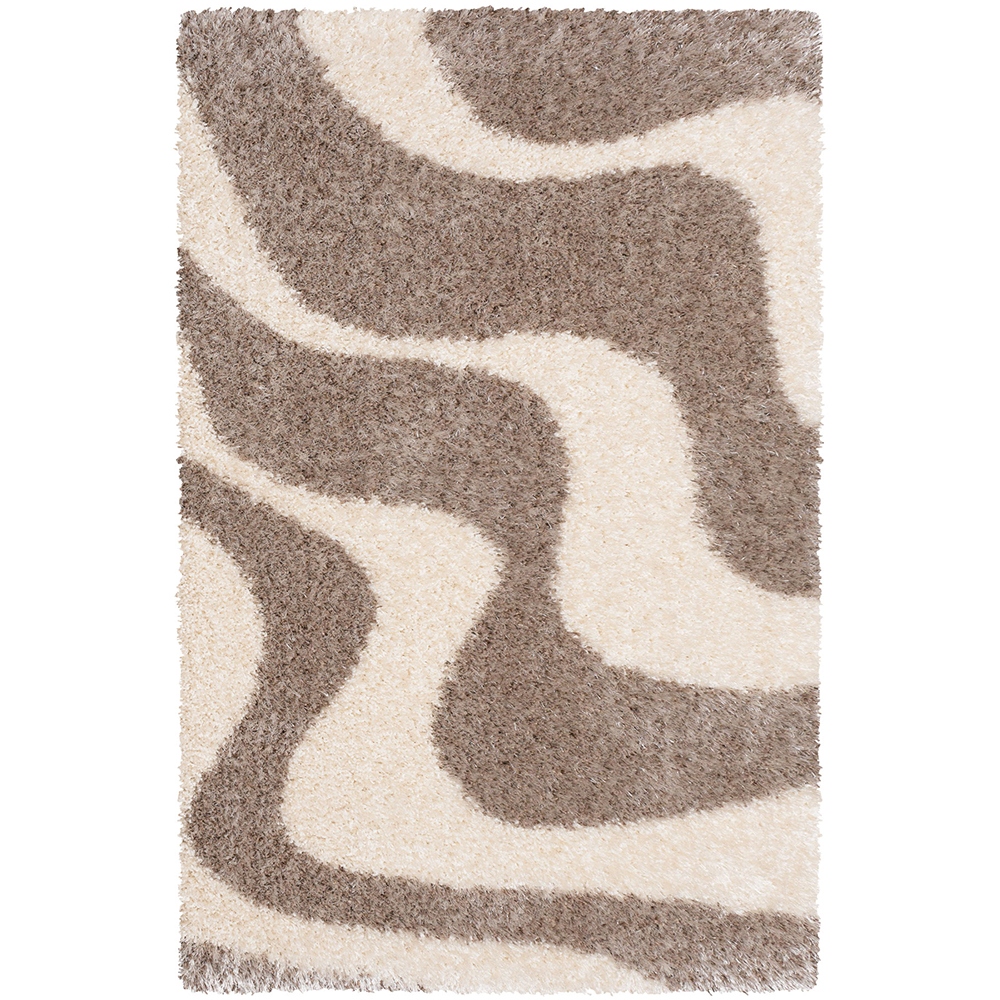 килим Glamour супер шаги овали сиво