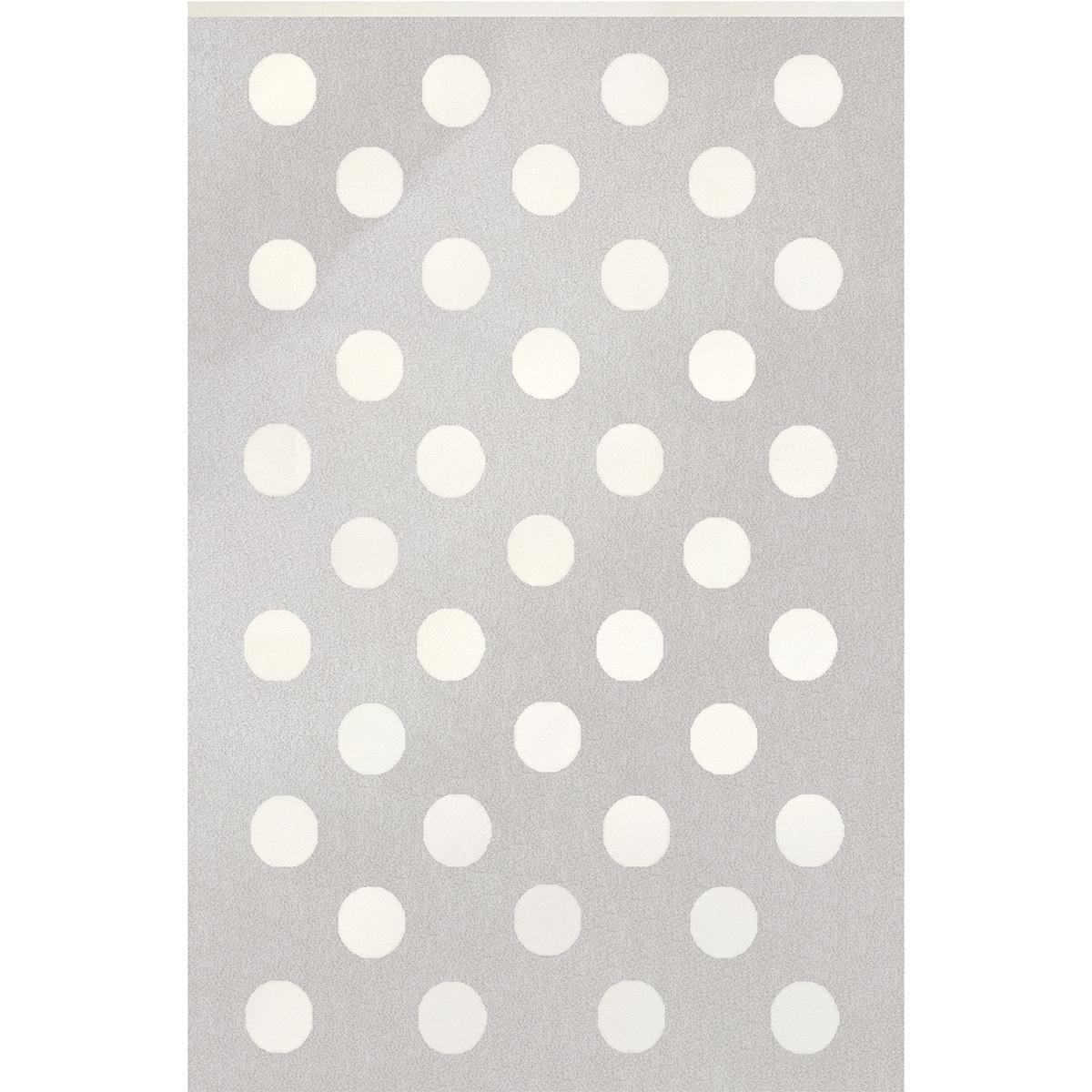 Килим Пастел бели точки сив