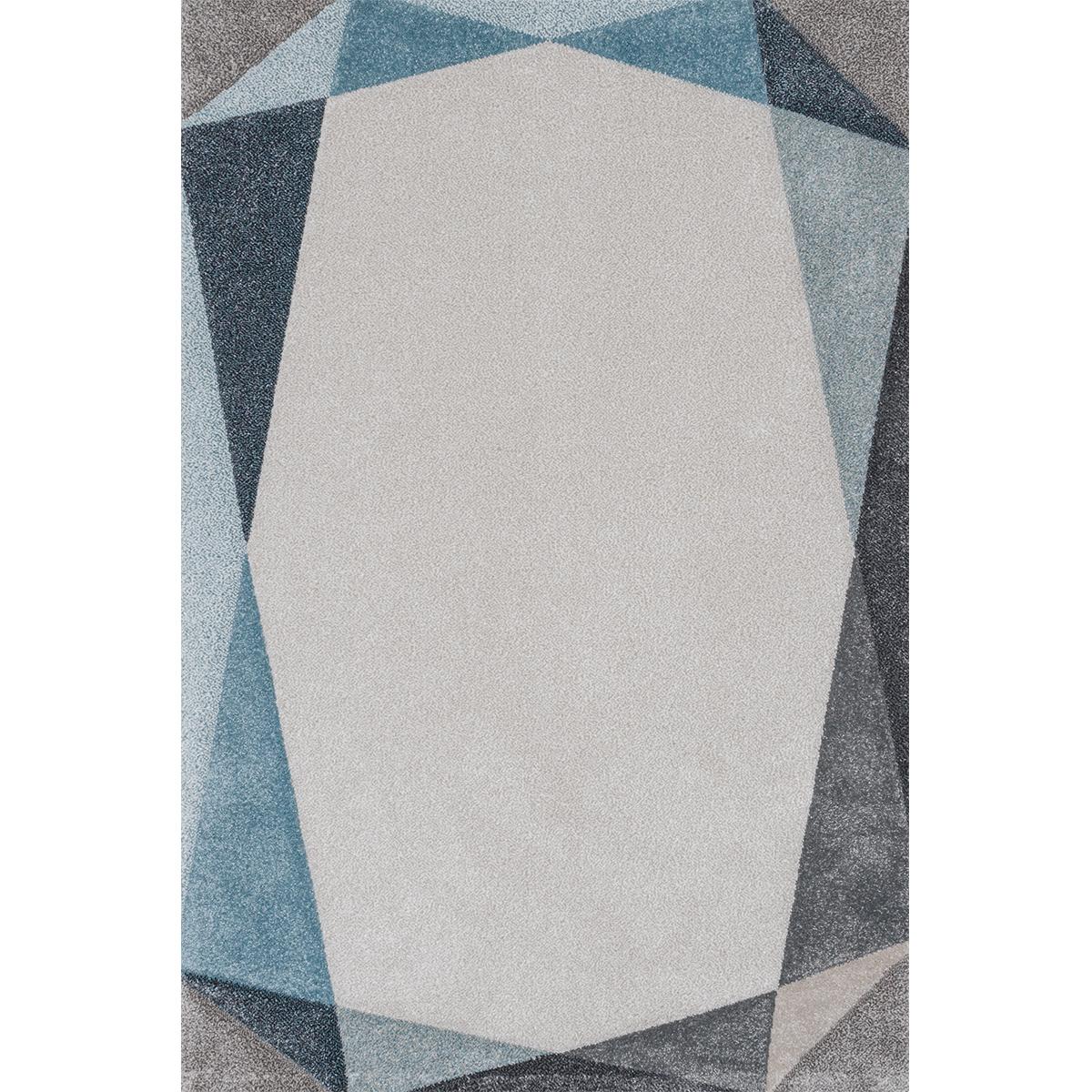 Килим Вегас хоум сини триъгълници беж