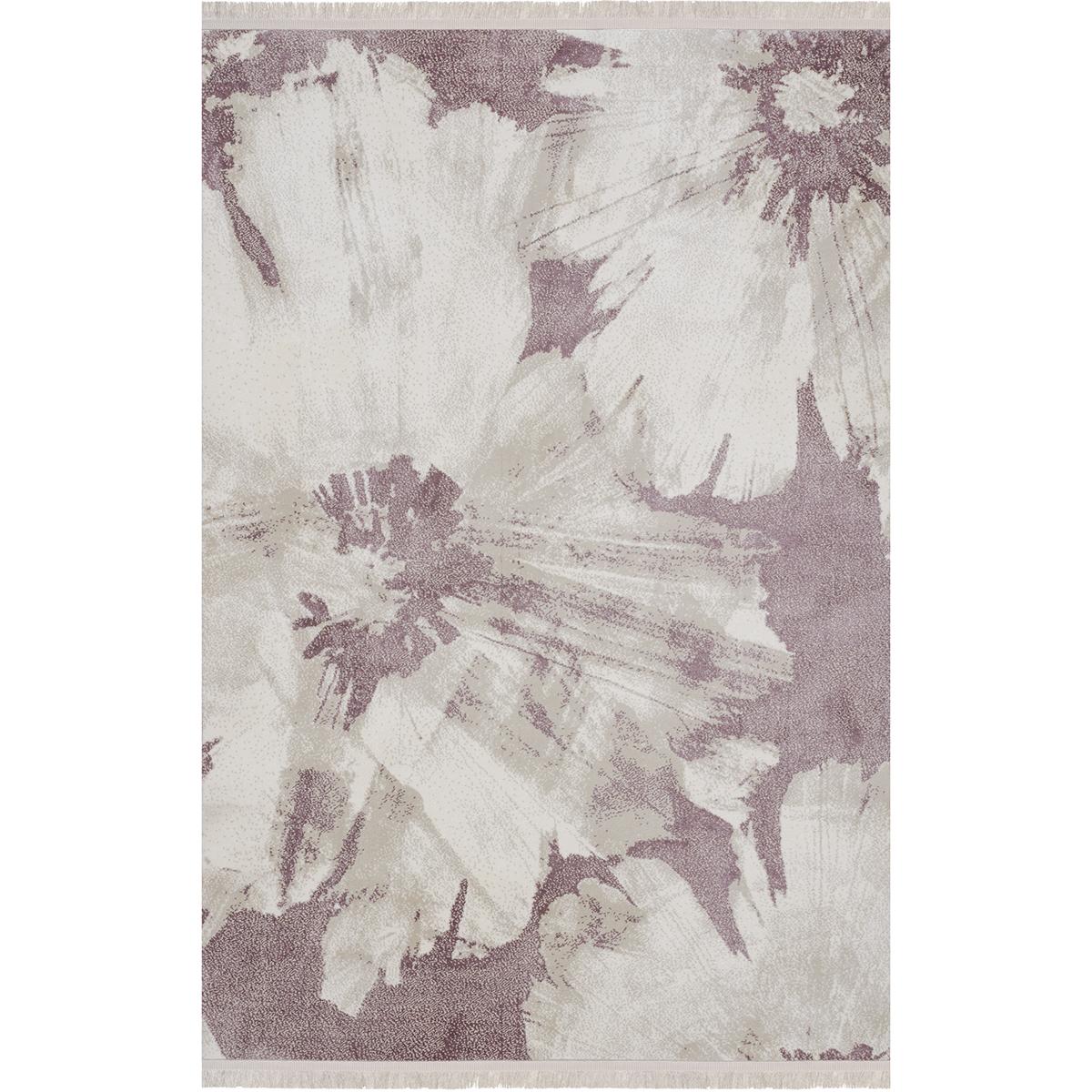 Килим с ресни Палермо винтидж цветя розов
