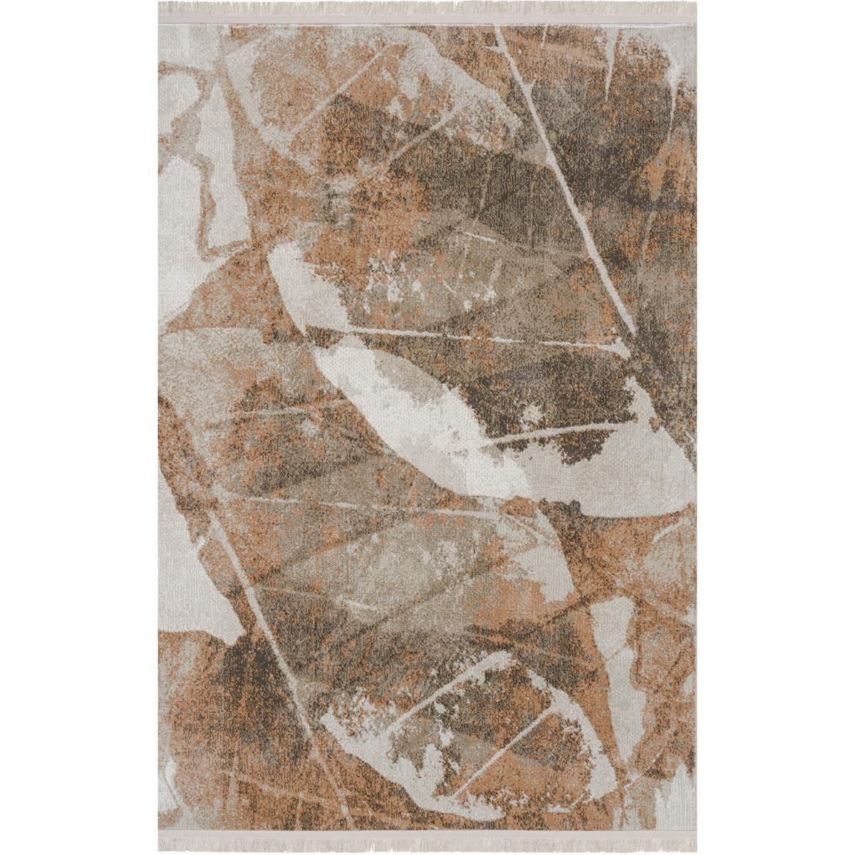 Килим с ресни Палермо есен беж кафяво