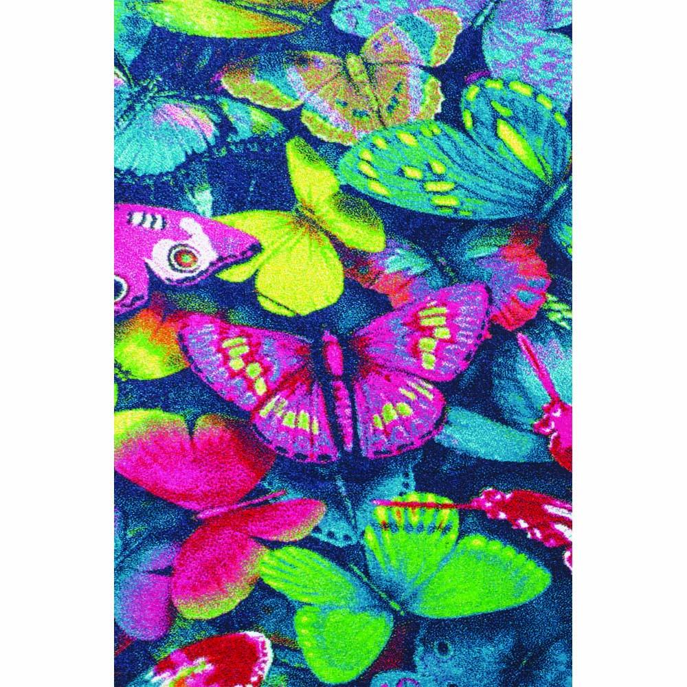 Пр.килим Kids пеперуди синьо-лилаво