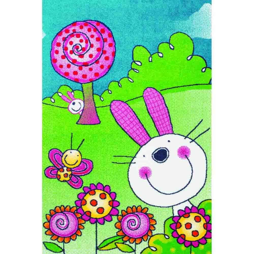 Пр.килим Kids щастливо зайче цветно