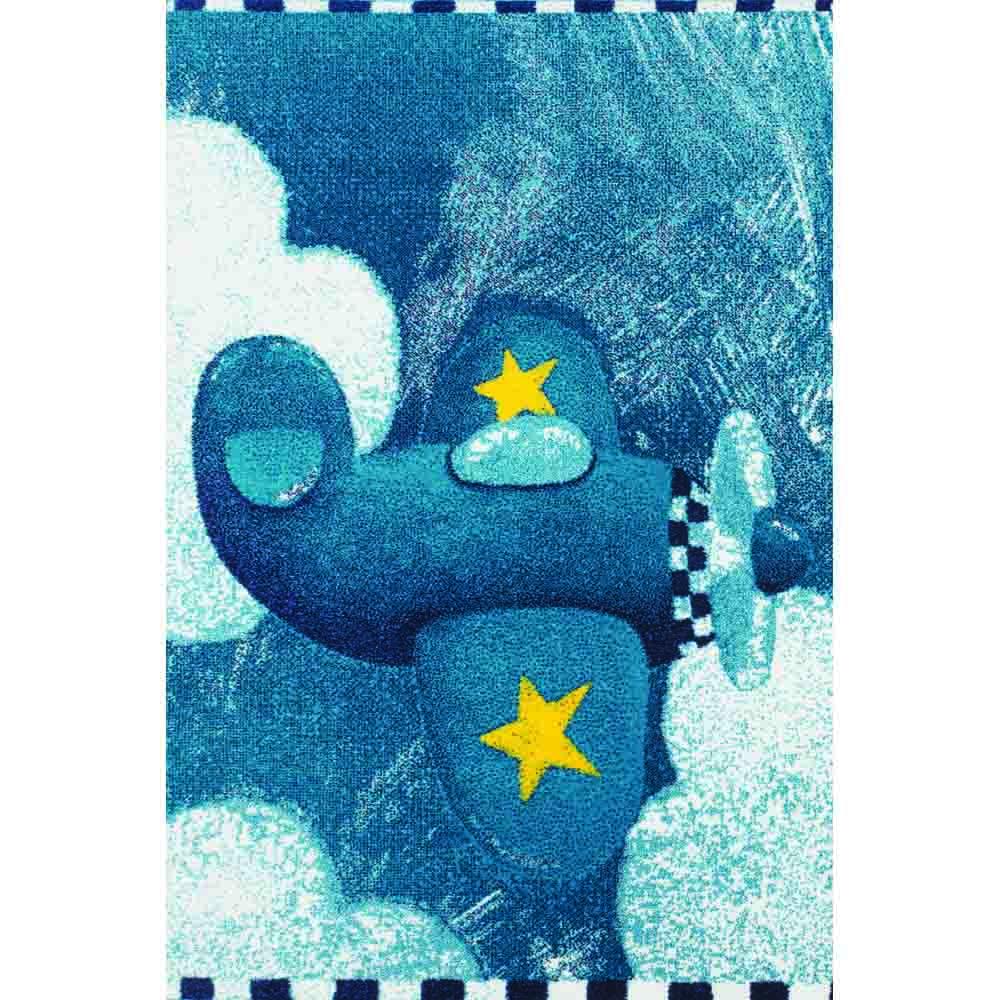 Пр.килим Kids самолетче синьо
