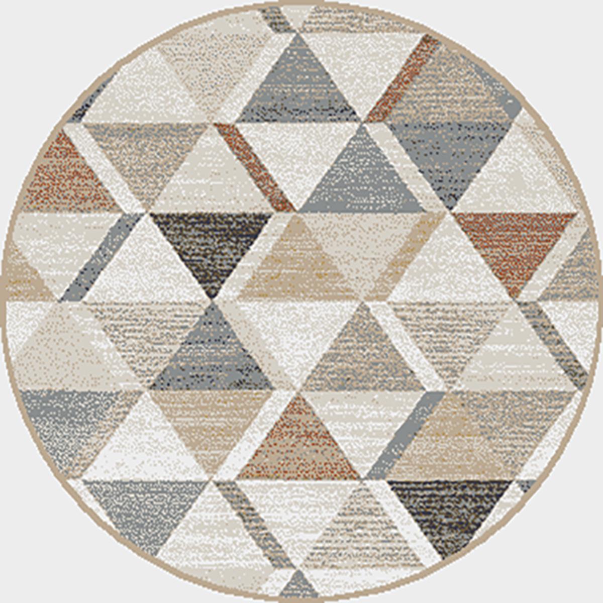 Килим Мондо цветни триъгълници сив