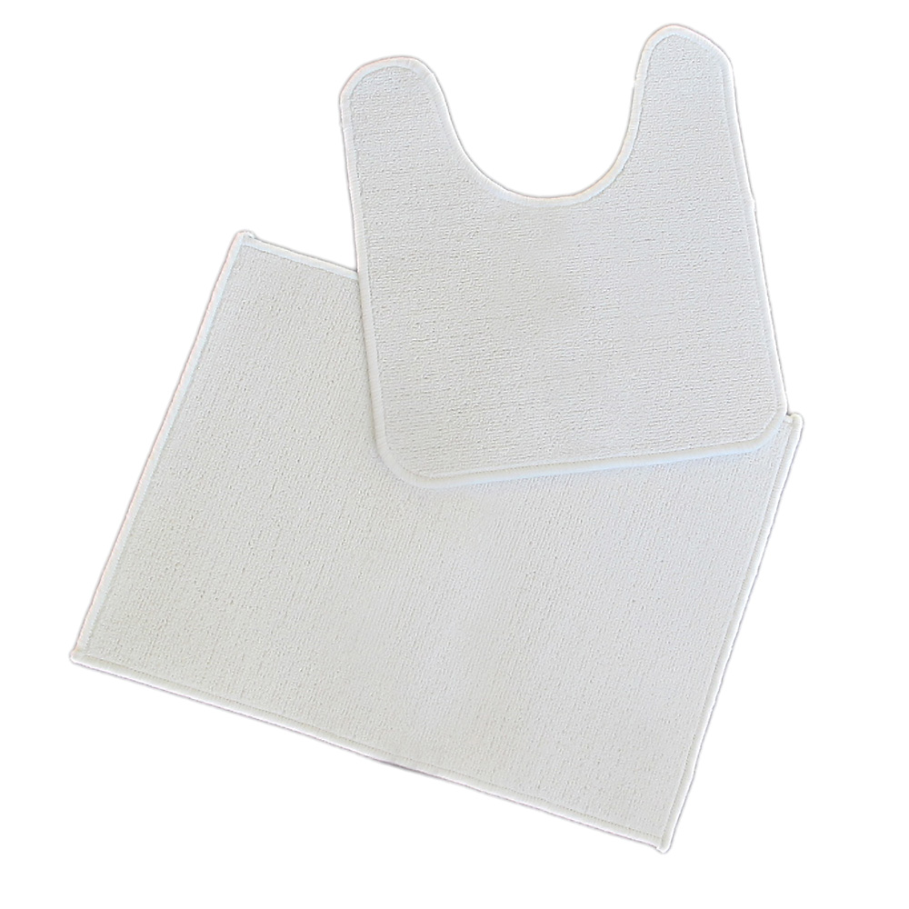 килим за баня СЕТ бяло