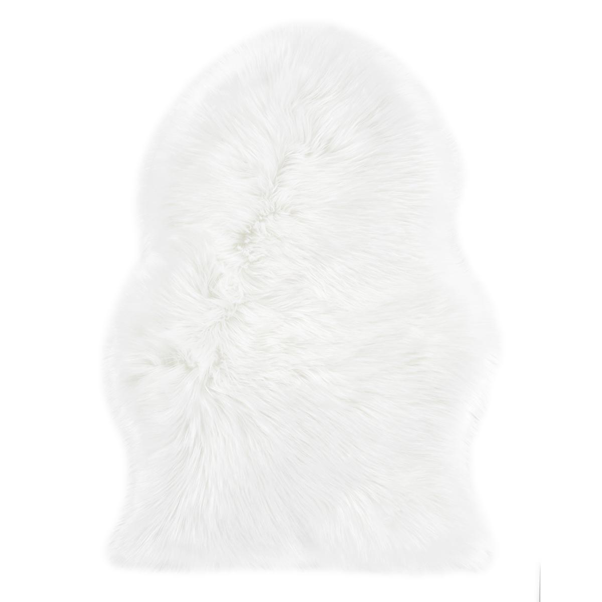 Еко кожа Ovium дълъг косъм бяло 55х80