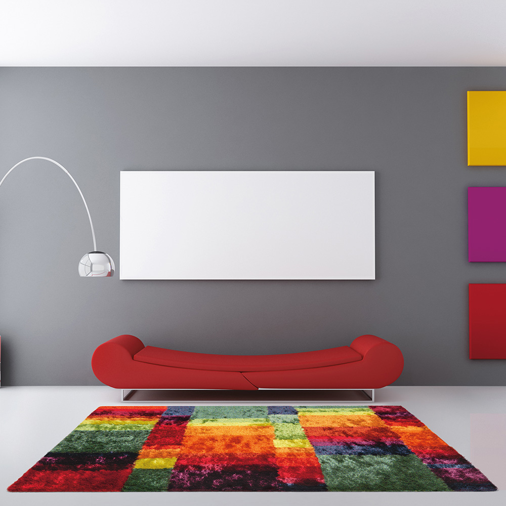килим шаги – Funky цветни плочки