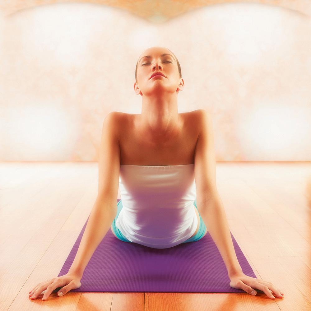 постелка за йога лилаво