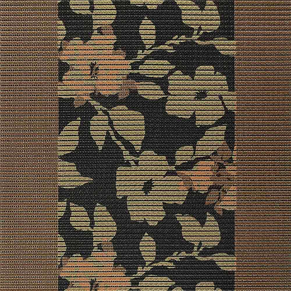 постелка КомфорТекс кафяво цветя