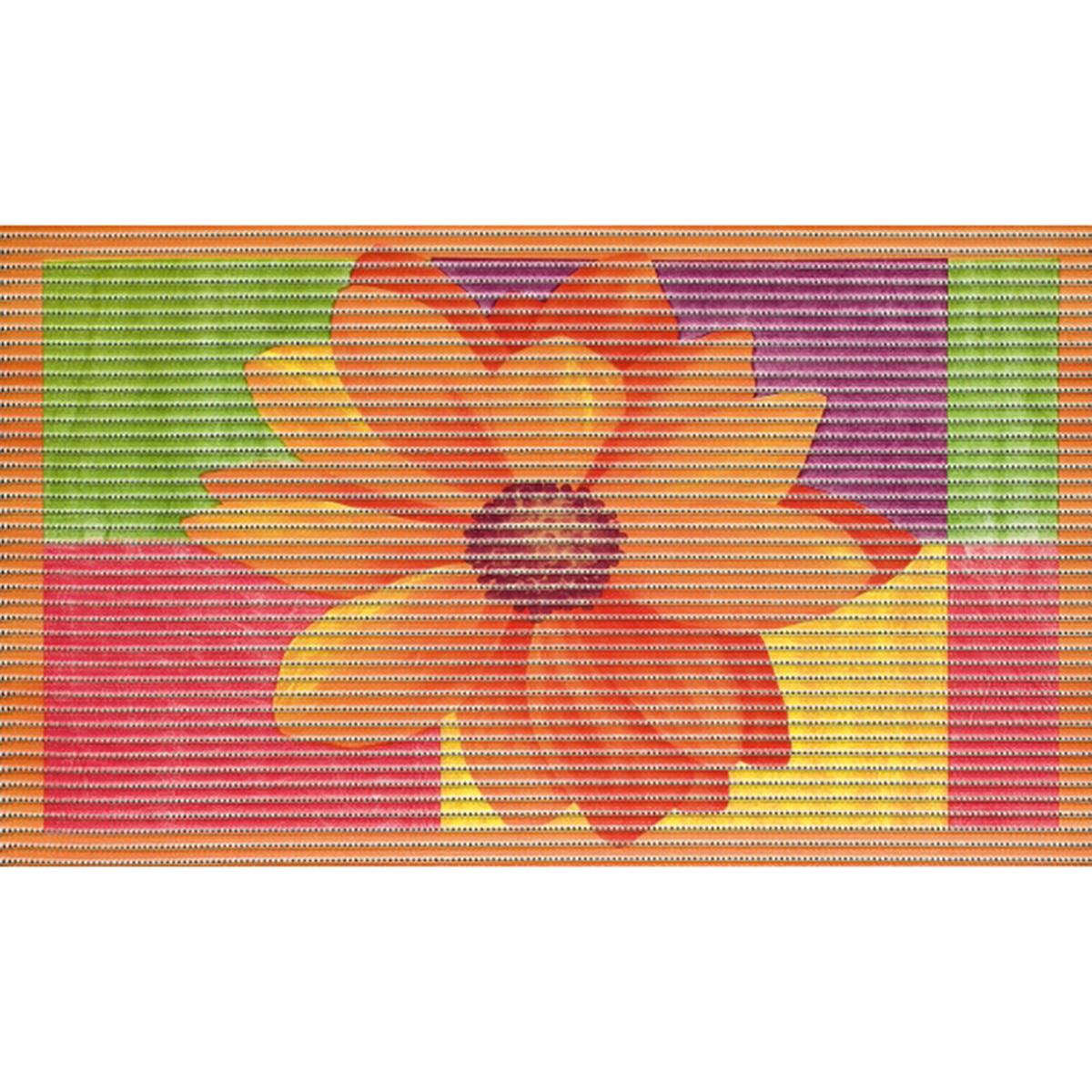 постелка за баня Мотив 3D цвете розово 48х80