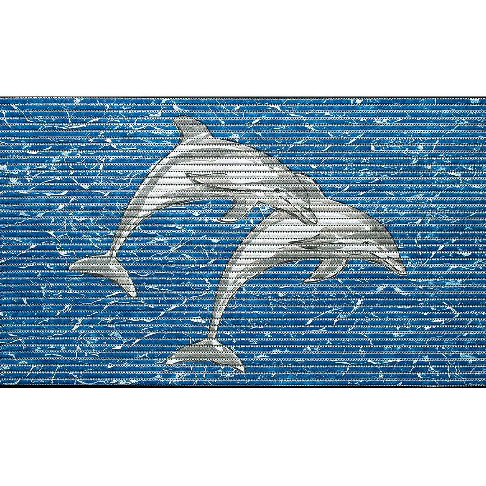 постелка за баня Мотив делфин синьо