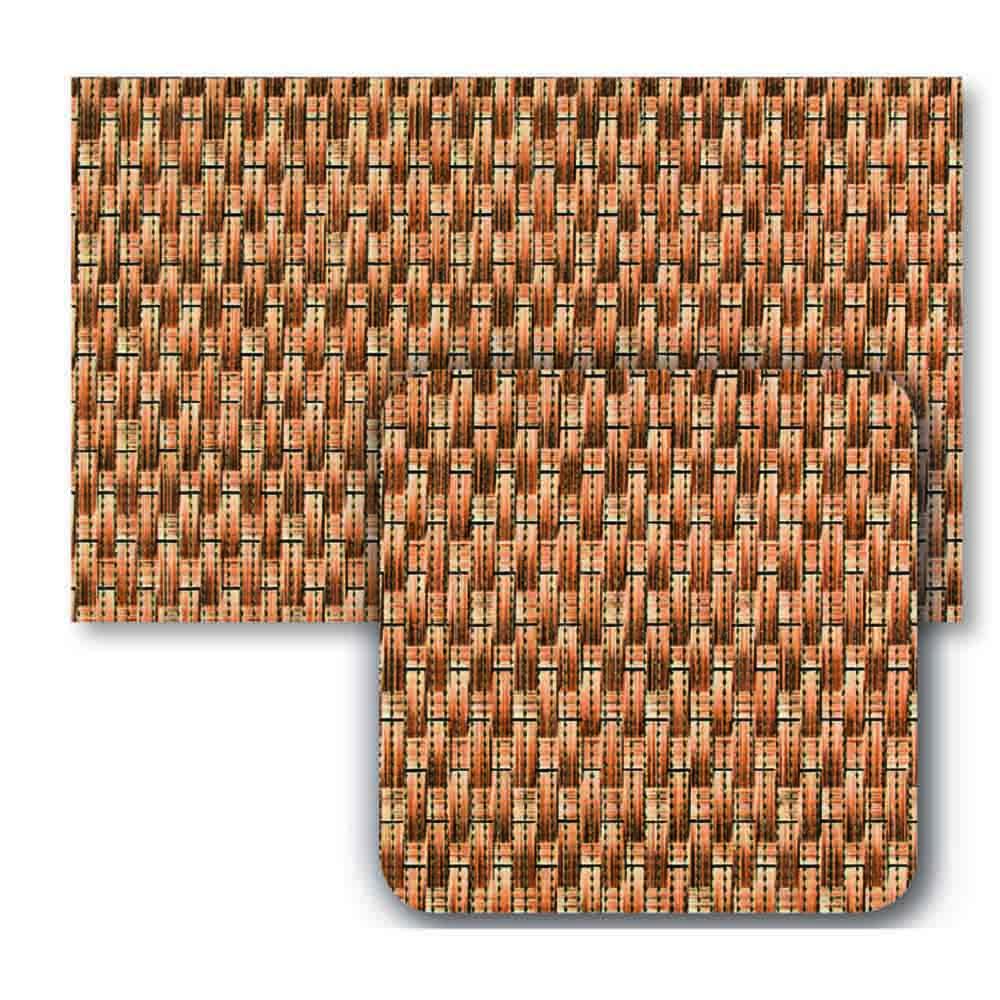 постелки за баня Софти-сет 80х48+48х48 Ратан кафяво