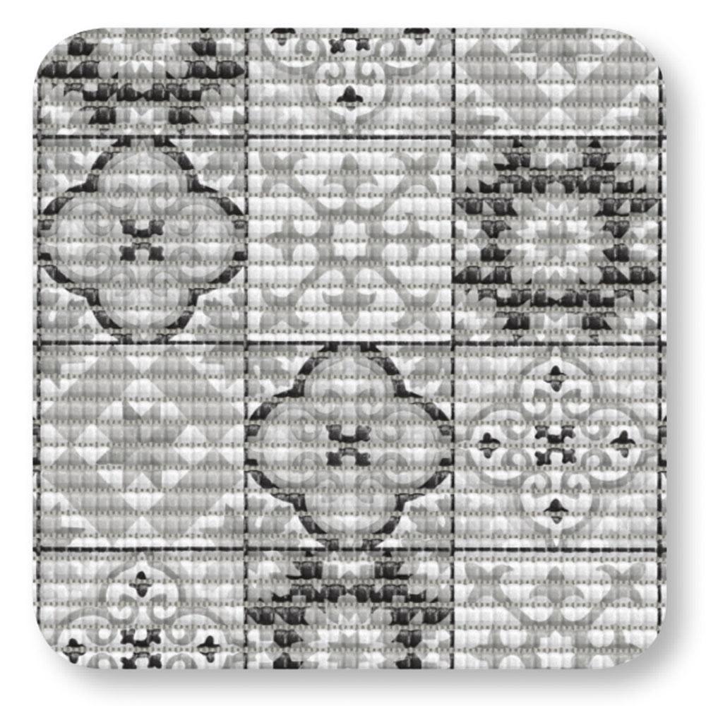 постелки за баня Софти-сет 80х48+48х48 Плочки антик черно