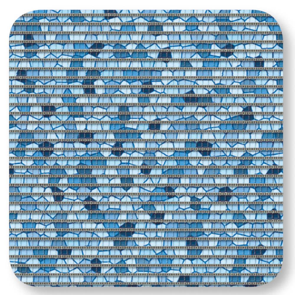 постелки за баня Софти-сет 80х48+48х48 Мозайка синьо