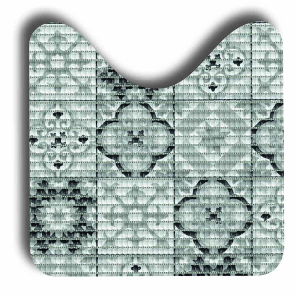 постелки за баня Софти-сет U 80х48+48х48 Плочки антик черно