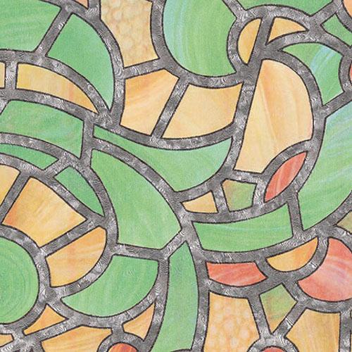 фолио Витражно жълто зелено