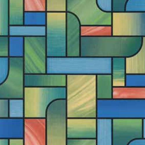 фолио Витражно зелени квадрати