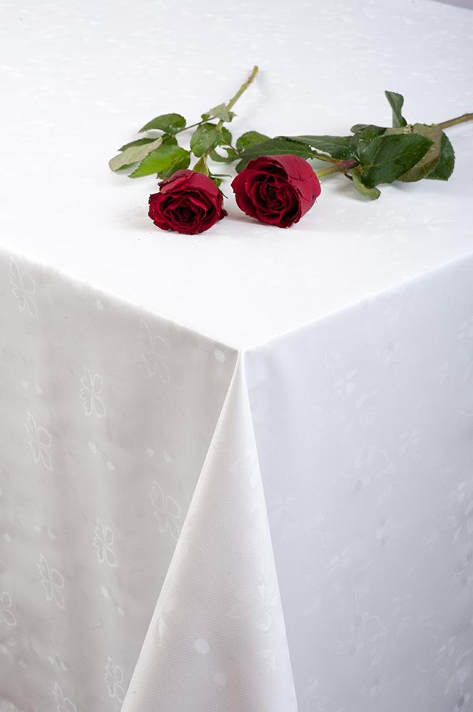 мушама Алдеко Треф цветя бяло