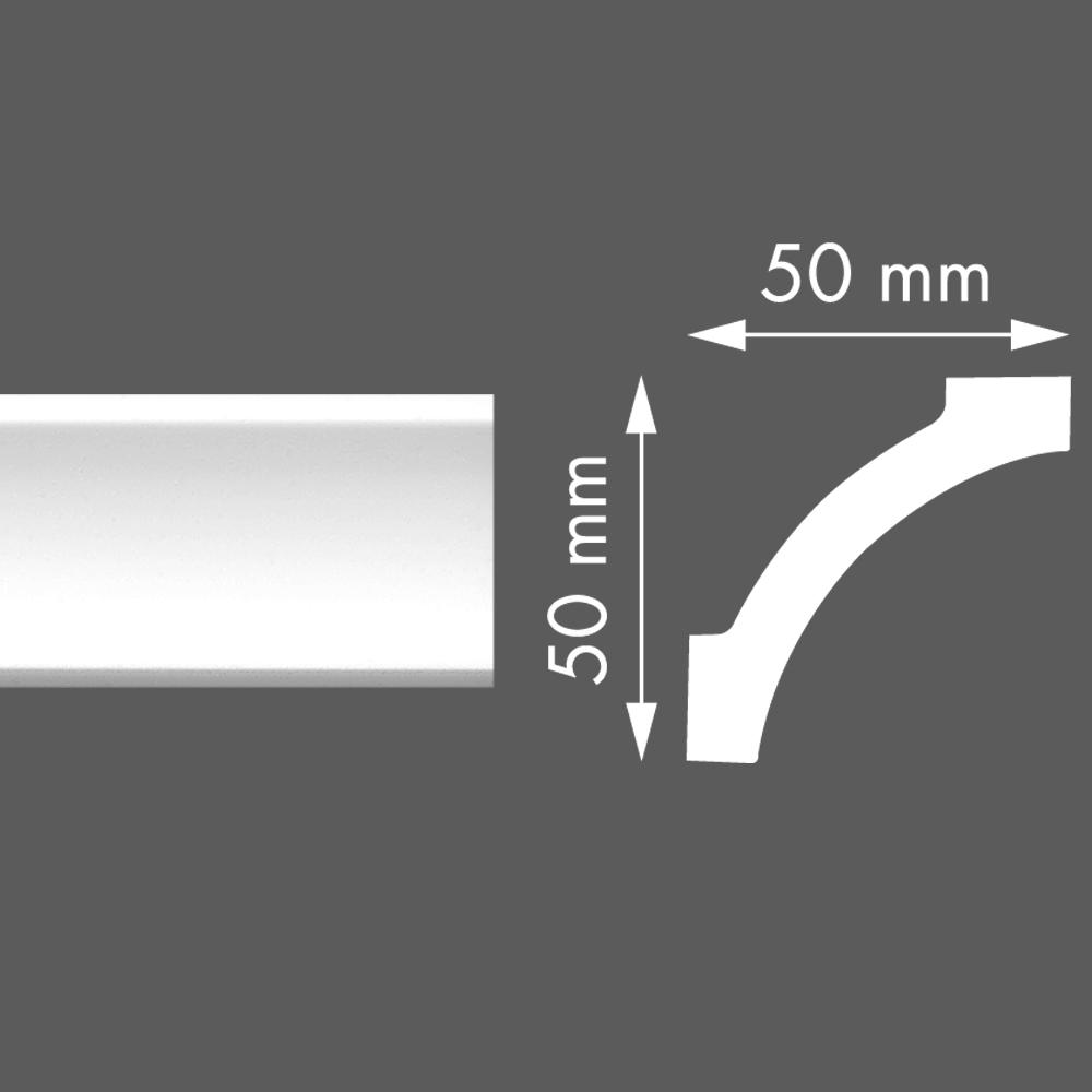 стиропорен корниз LX65 50х50/2м