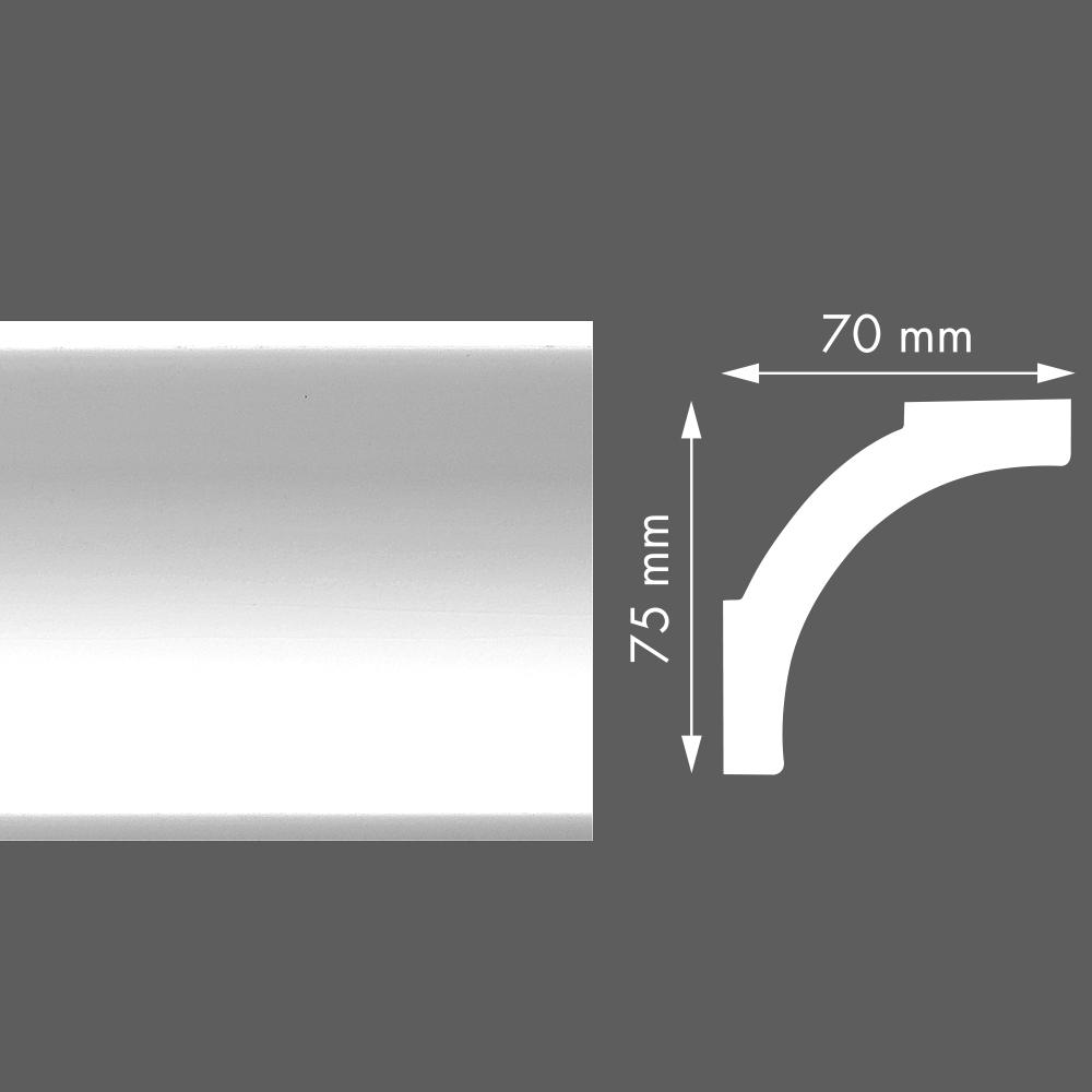 стиропорен корниз LX75 70х75/2м