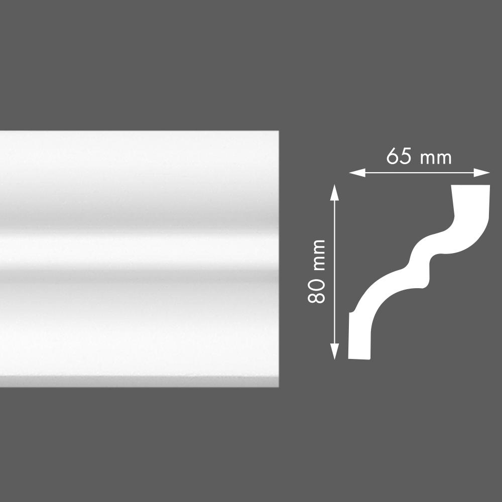 стиропорен корниз LX105 65х80/2м