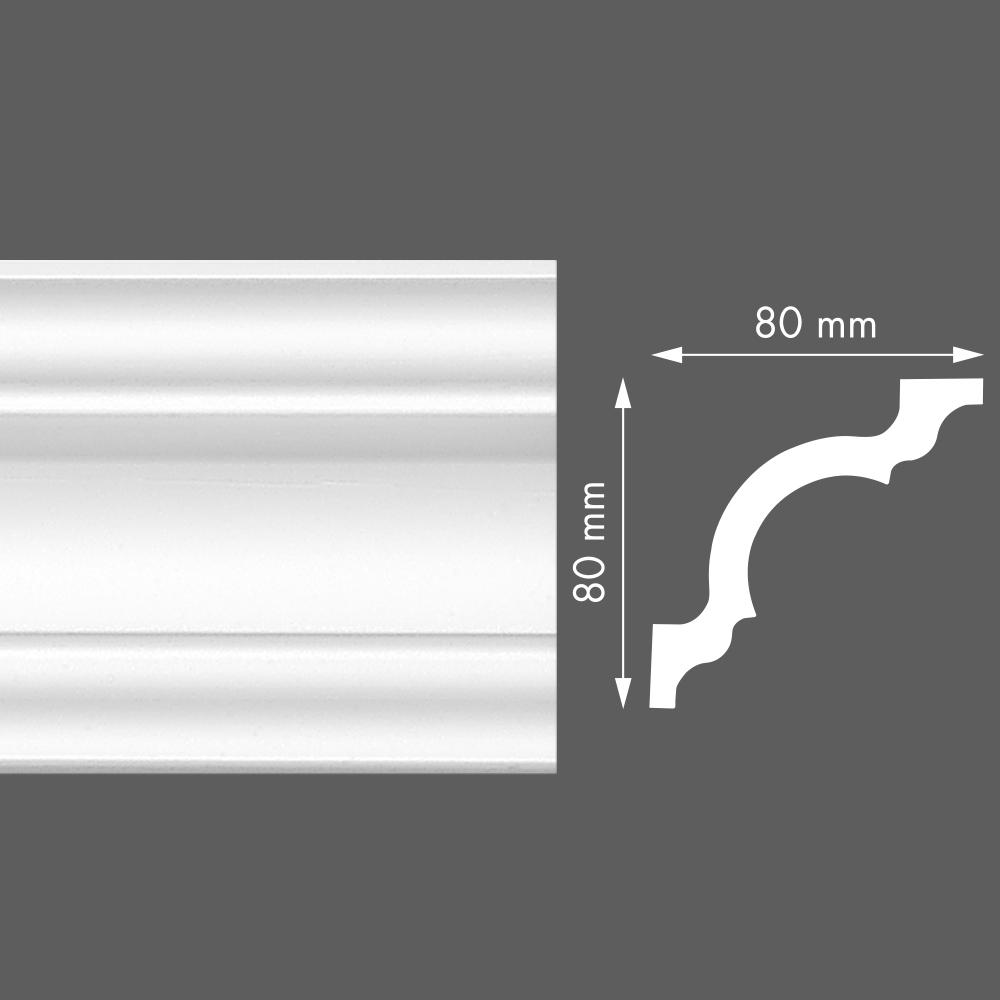 стиропорен корниз LX110 80х80/2м