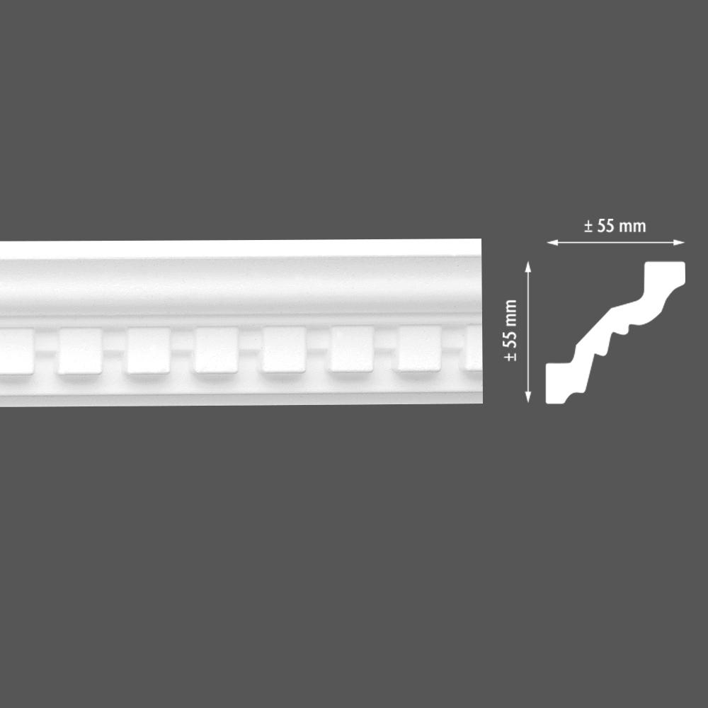 стиропорен корниз E9 55х55/2м