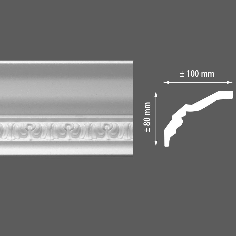 стиропорен корниз E11 100х80/2м