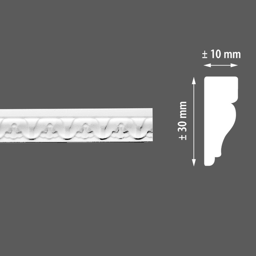 стиропорен корниз E12 10х30/2м