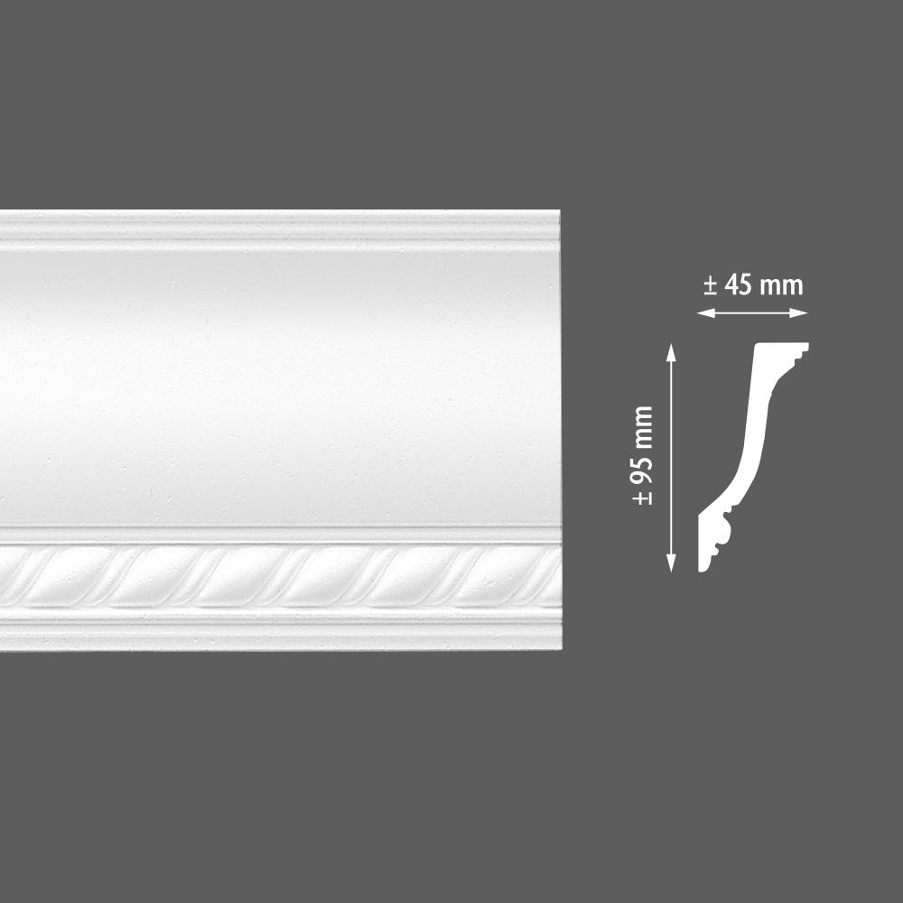 стиропорен корниз E13 45х95/2м