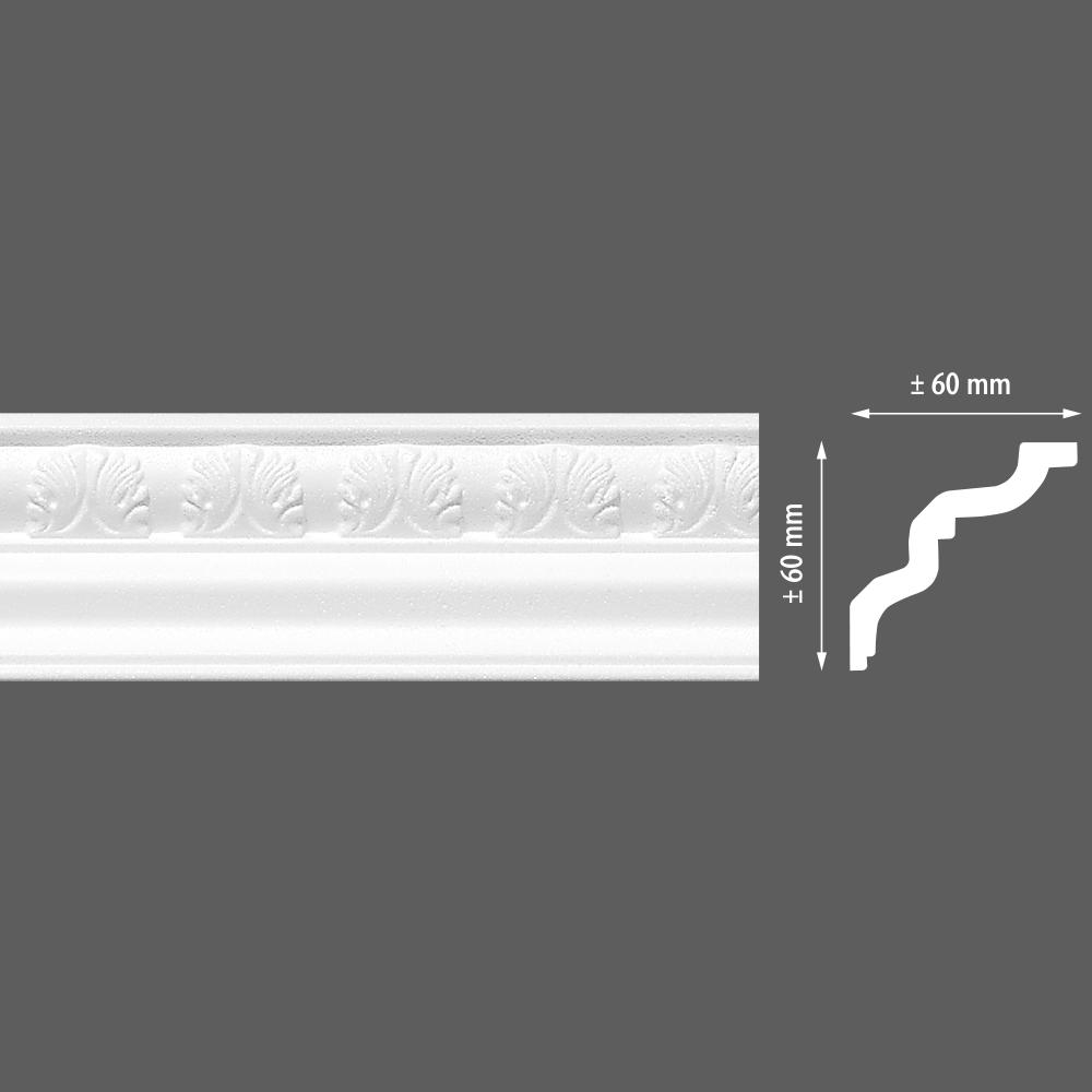 стиропорен корниз E24 60х60/2м LP-91