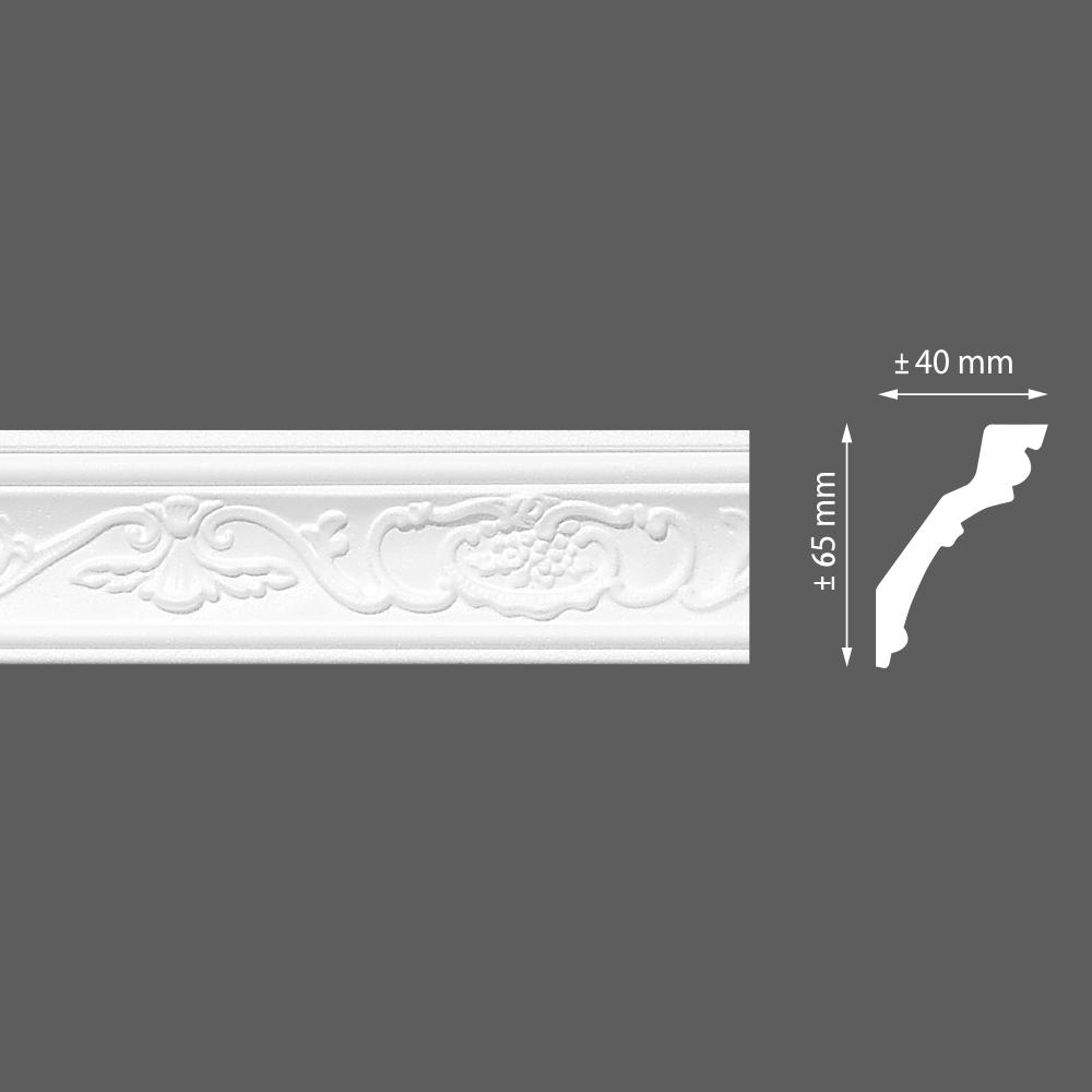 стиропорен корниз E26 40х65/2м LP-80
