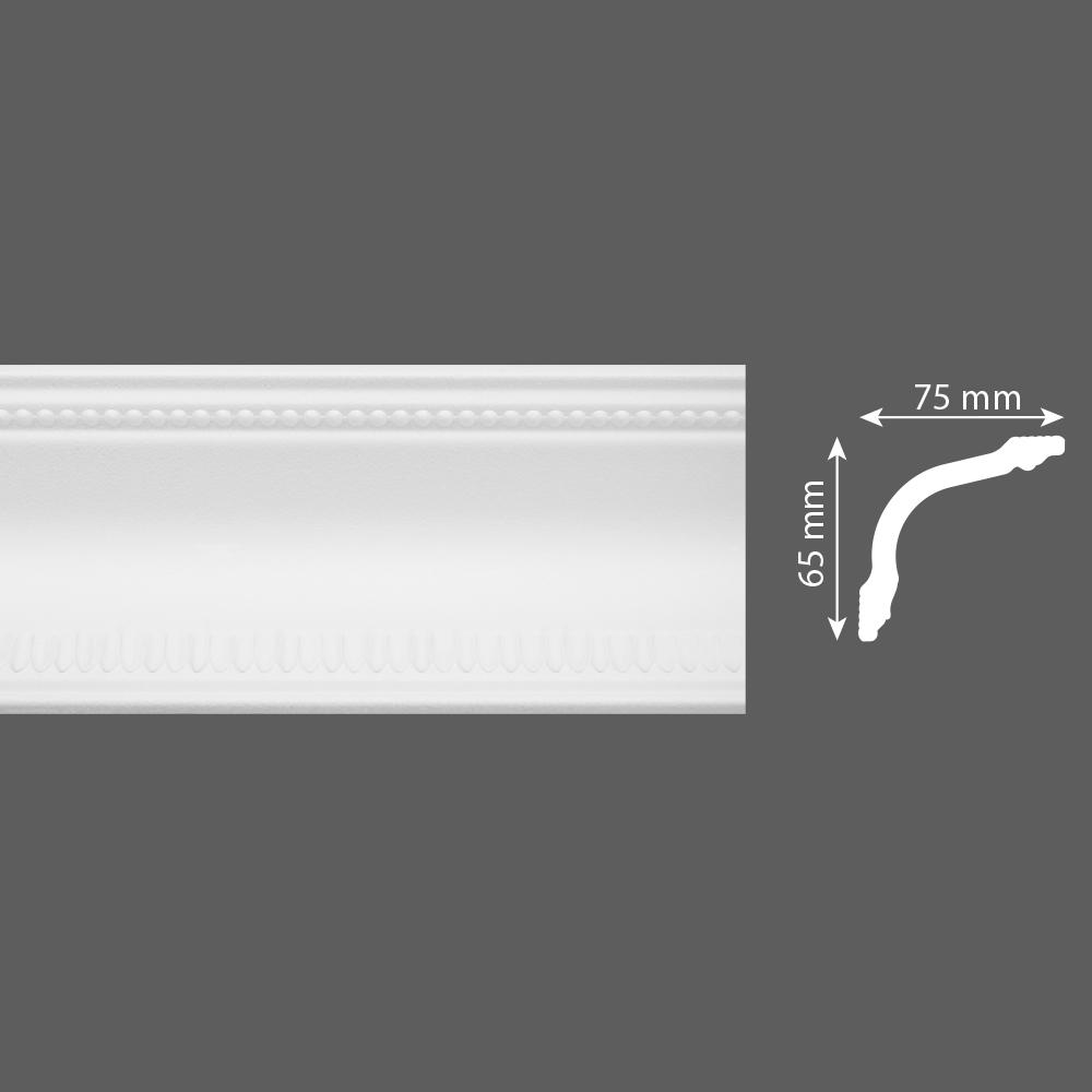 стиропорен корниз E28 75х65/2м