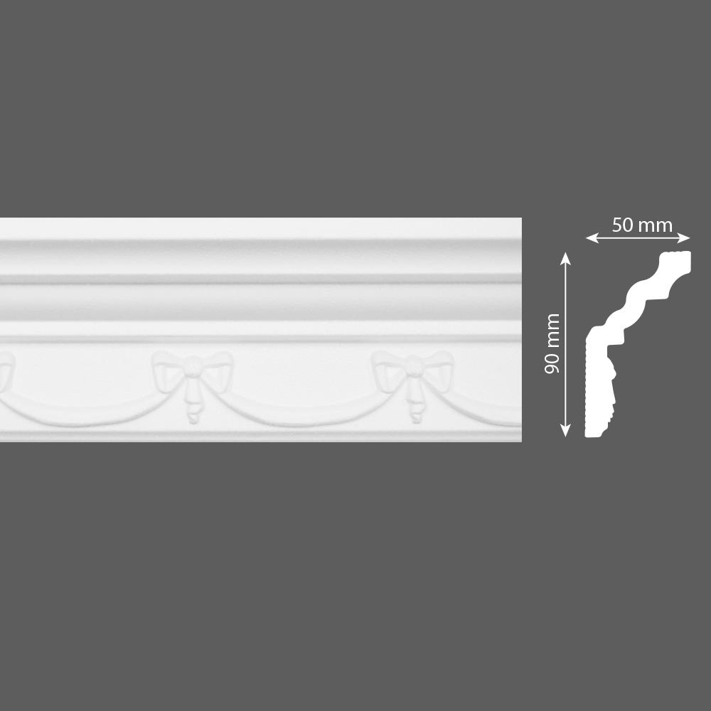 стиропорен корниз E29 50х90/2м
