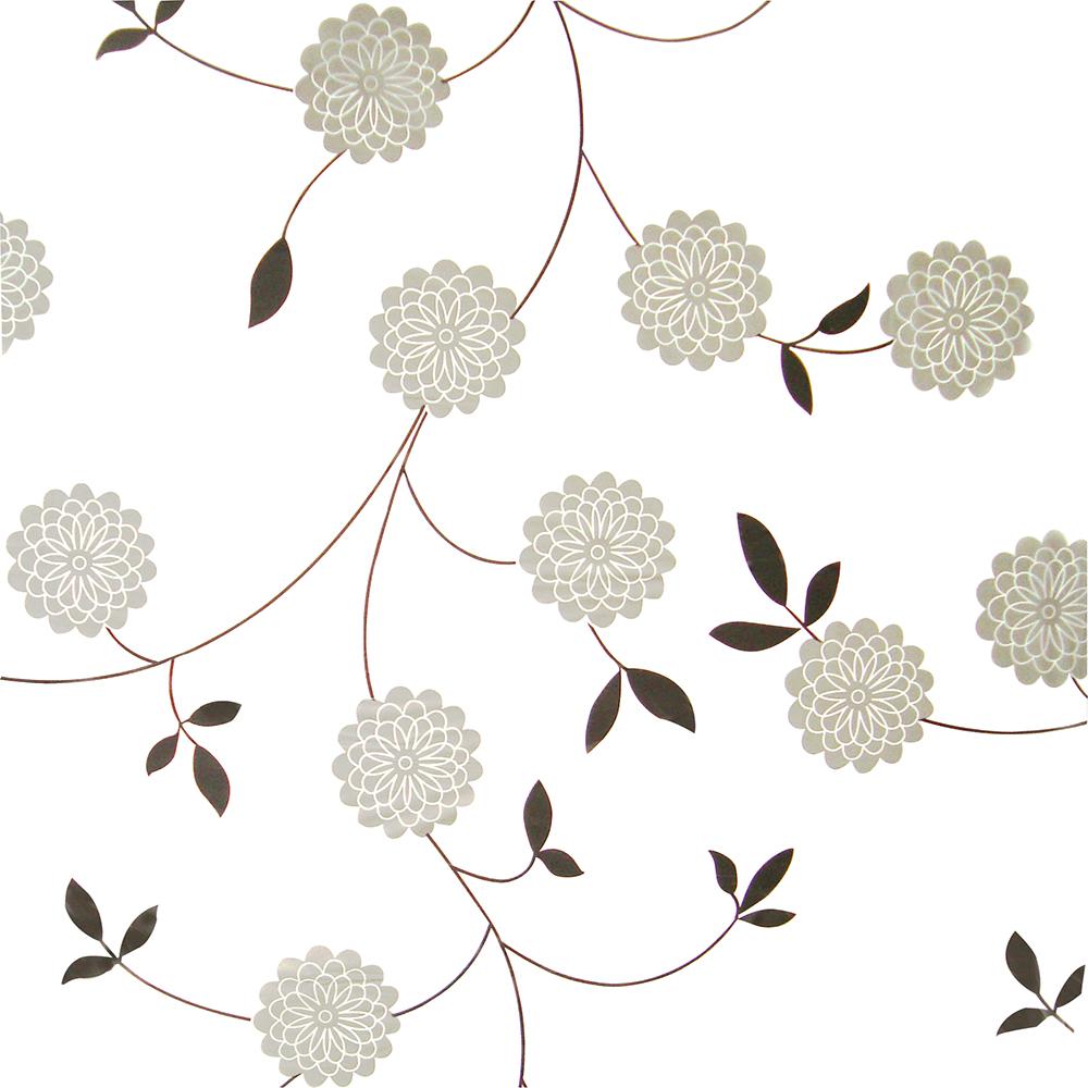PEVA завеса за баня сиви цветя