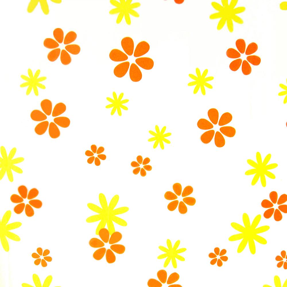 PEVA завеса за баня слънчево оранж