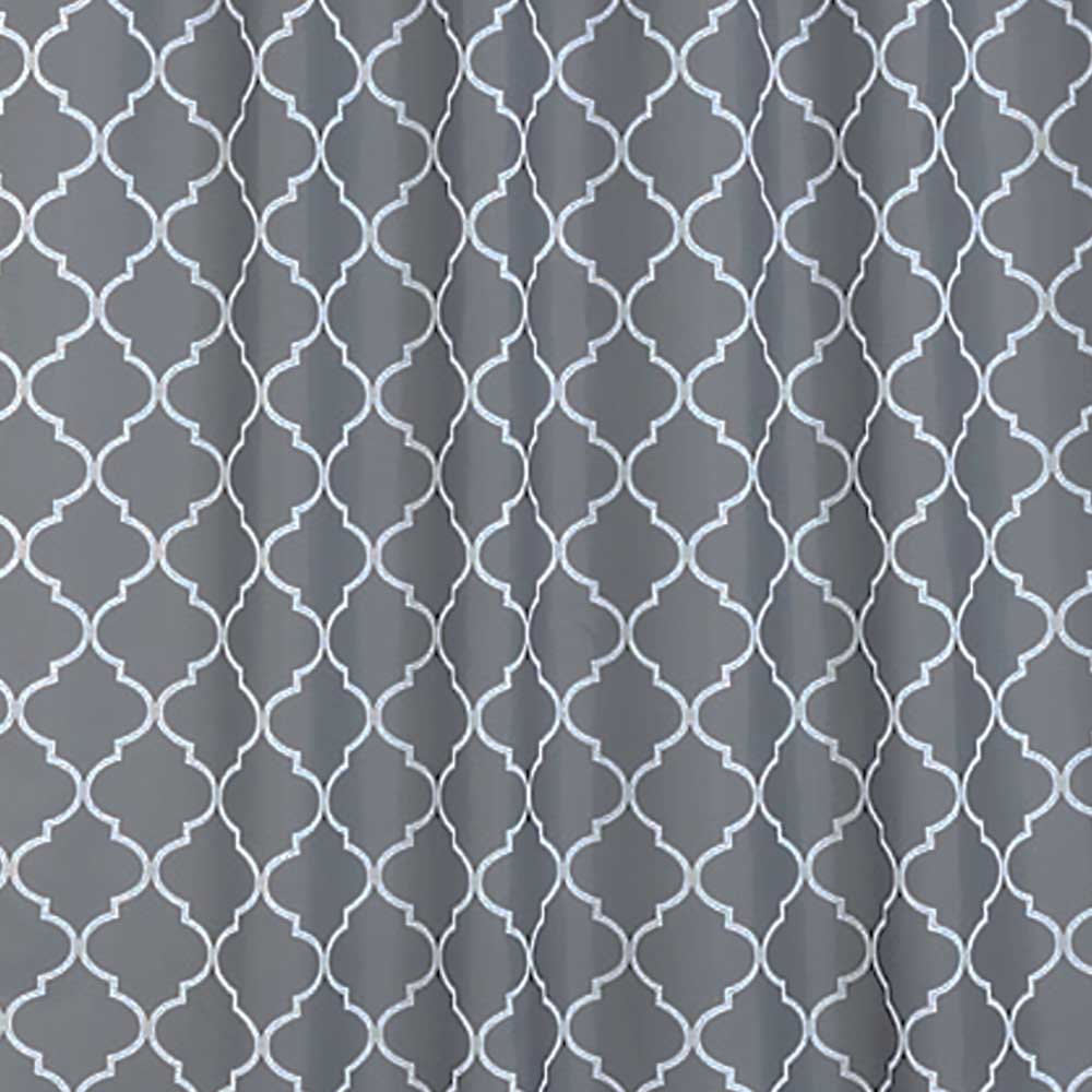 ТЕКСТИЛ завеса за баня орнаменти сиво