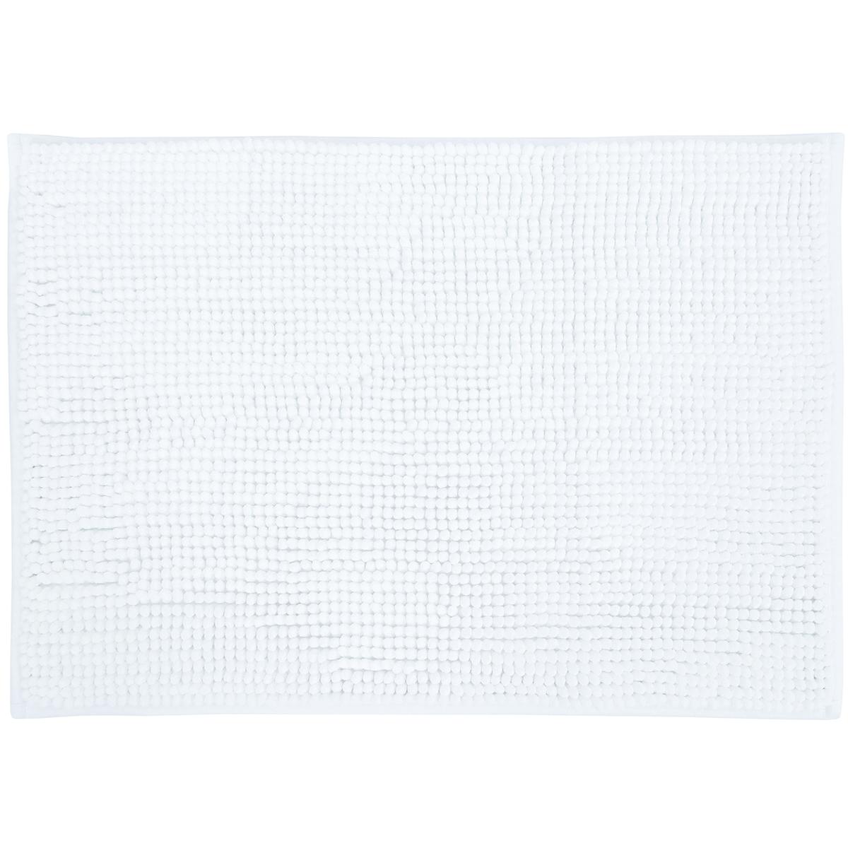 Basic килимче за баня Аква бяло 40х60