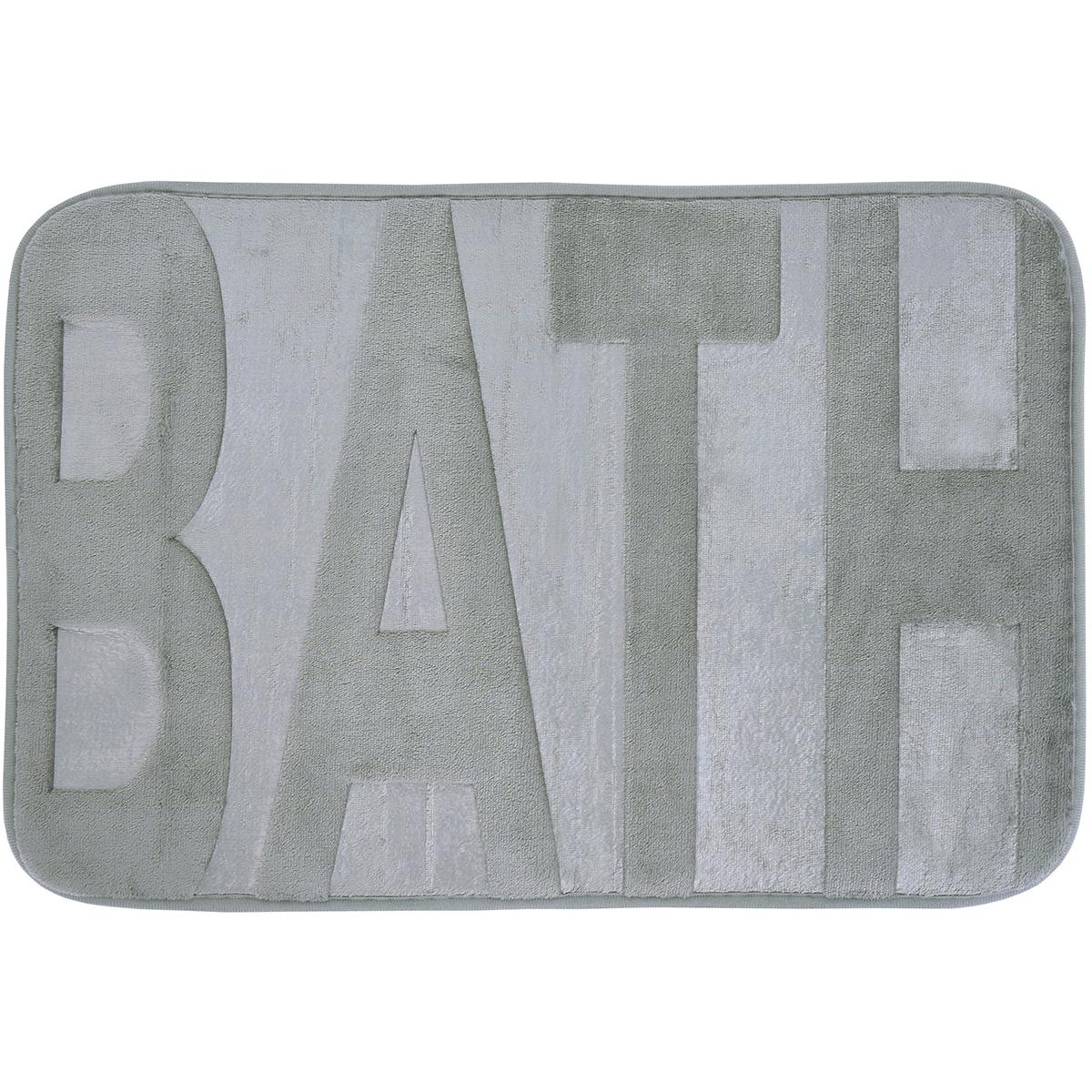 Basic килимче за баня Bath Сиво 40х60
