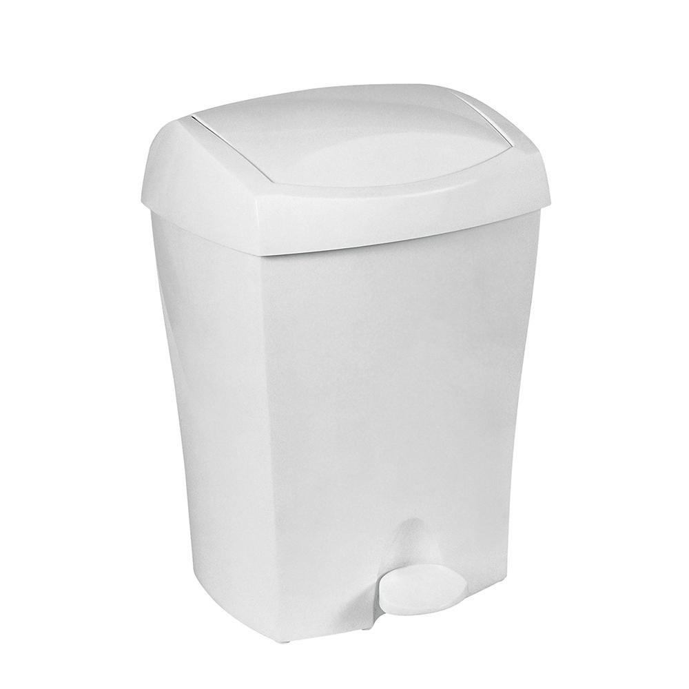 кошче с педал DUO 8л. Бяло