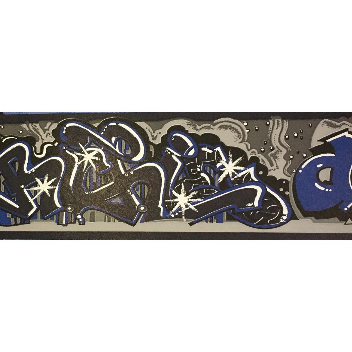 Тапет 5819-05 фриз 10м. тату синьо